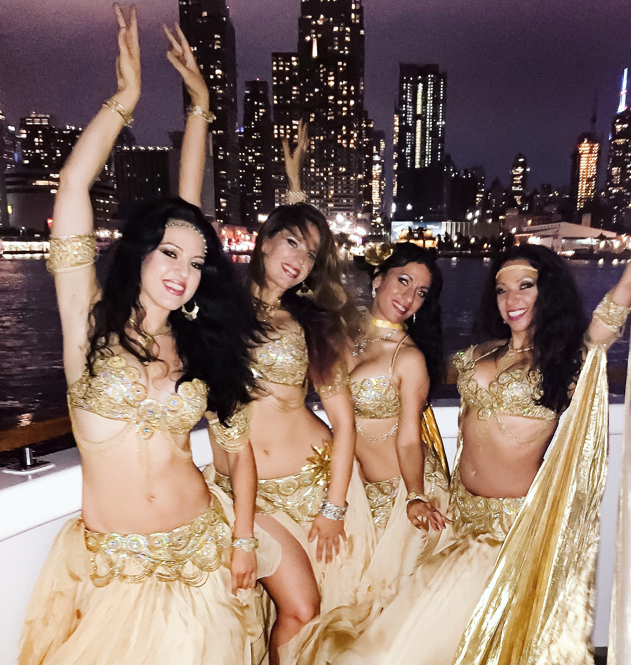 Mariyah and Infinity Bellydancers NYC - Party on Lexington Yachts NYC